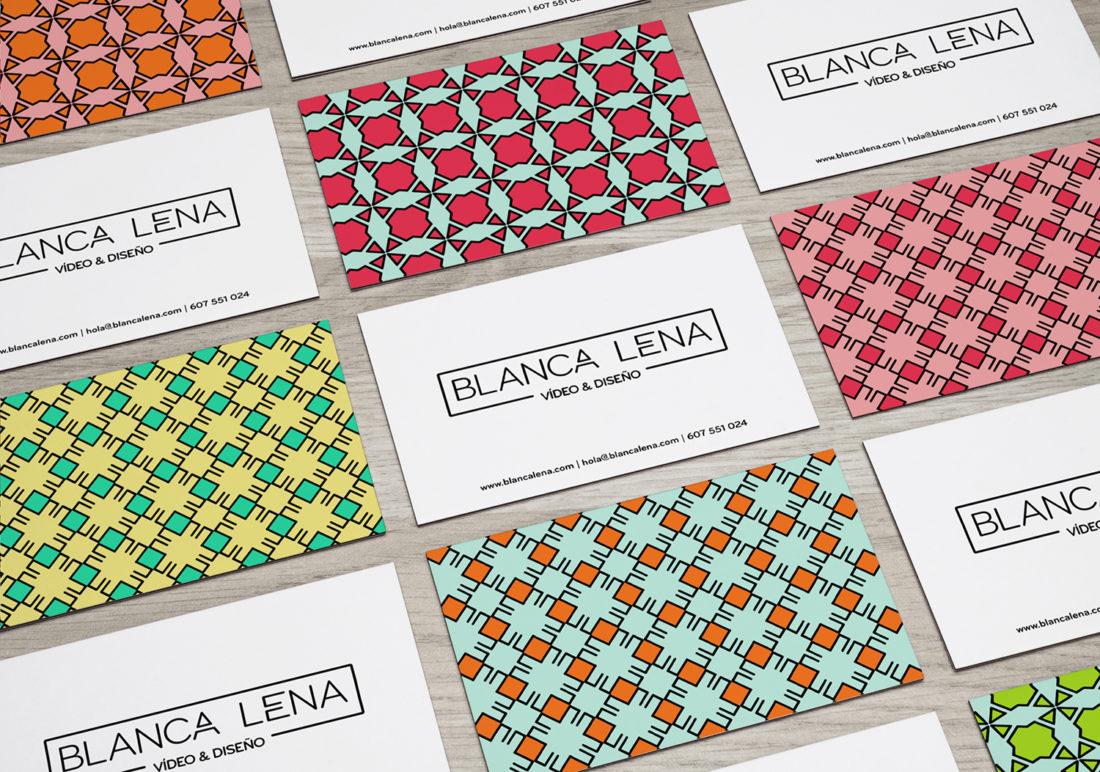 Tarjetas Blanca Lena Diseño Gráfico